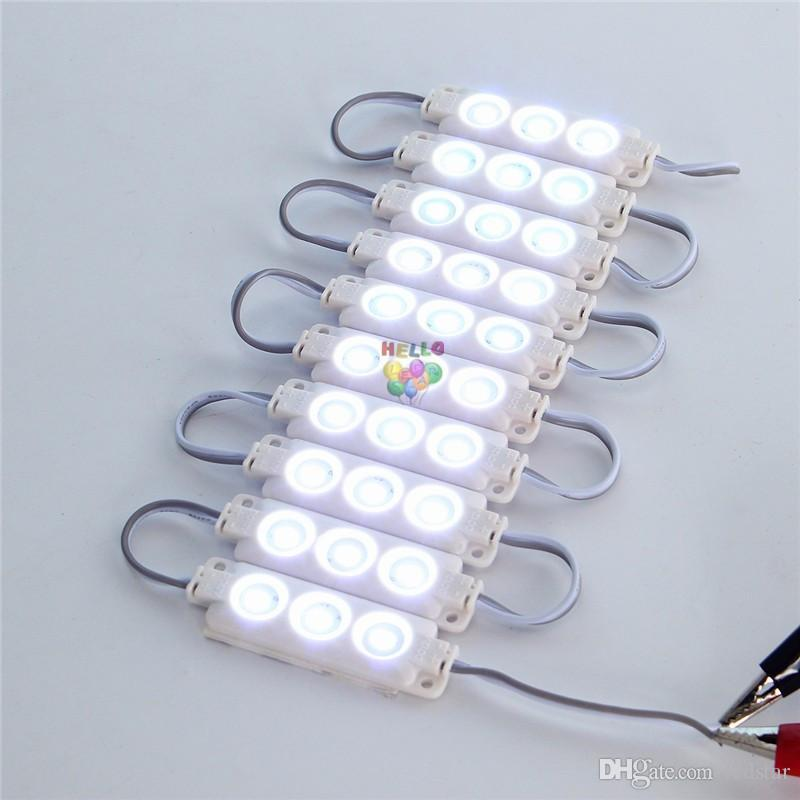 10ft Injection ABS Plastic 5630 SMD Led Modules 3Leds/1.5W High Lumen Led Backlights String White/Warm White Red Blue Waterproof