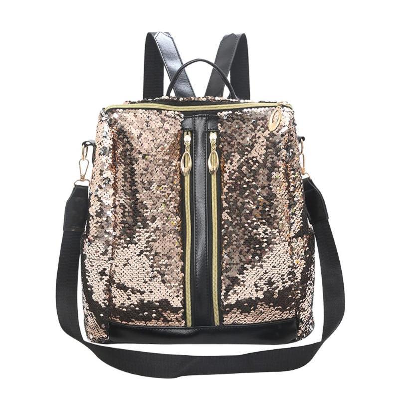 3ae3df8840f2 Teenage Girls Bling Rucksack Large Capacity Students School Bags ...