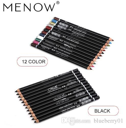MENOW 12 Colors Eye Makeup set Eyeliner Pencil Waterproof Beauty Eyes Liner  Lip sticks Cosmetics Eyes maquiagemP08005 5470