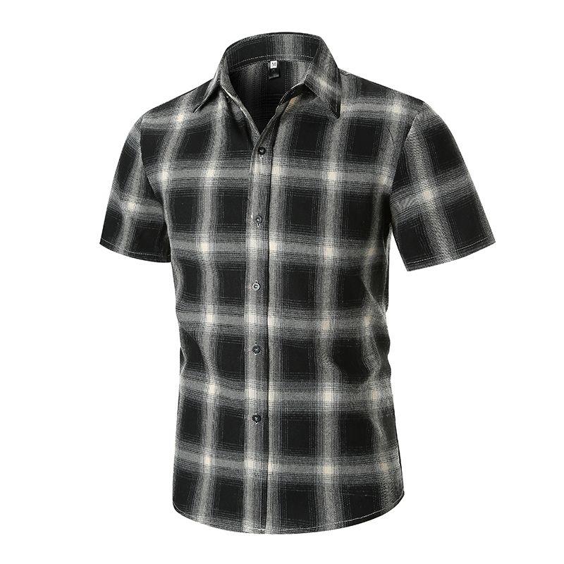 67f99f7b56e435 2019 Red And Black Plaid Shirt Men Shirts 2019 New Summer Fashion Chemise  Homme Mens Checkered Shirts Short Sleeve Shirt Men Blouse From Yuhui002, ...