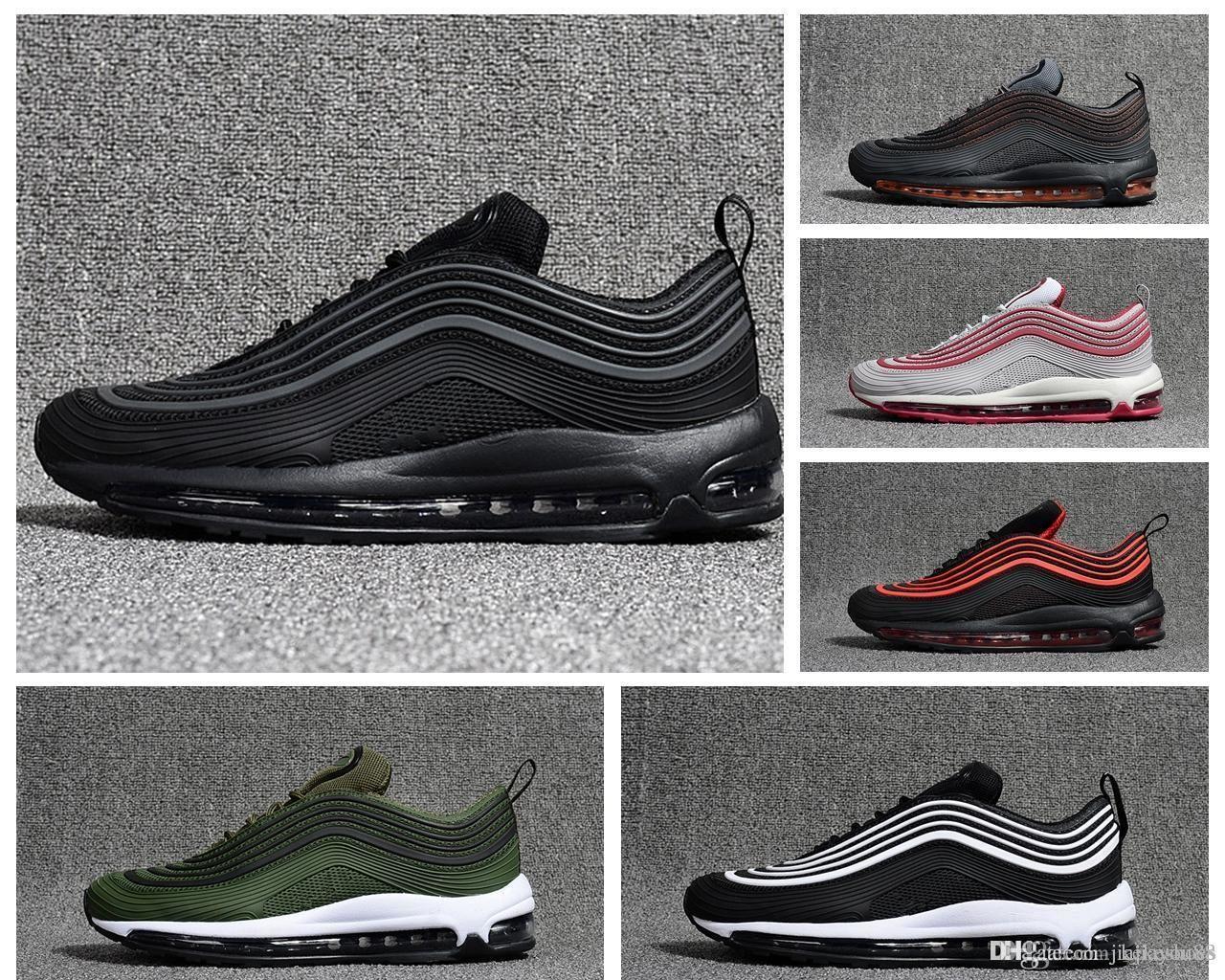 97 Ultra 17 Premium Triple Black Seven premium Silver Black Silver Bullet WHITE 3M Premium Running Shoes With Box Men Women free shipping