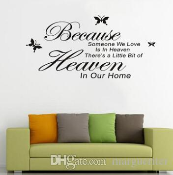 quote wall stickers character wall decal because someone we love is