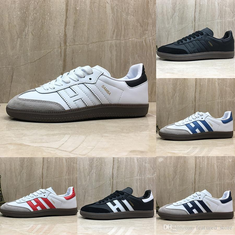 New Samba trainers Mens Casual Shoes fashion designer Brand Leather gazelle og Black white Pink Men Runner Womens Sneakers sports Shoes