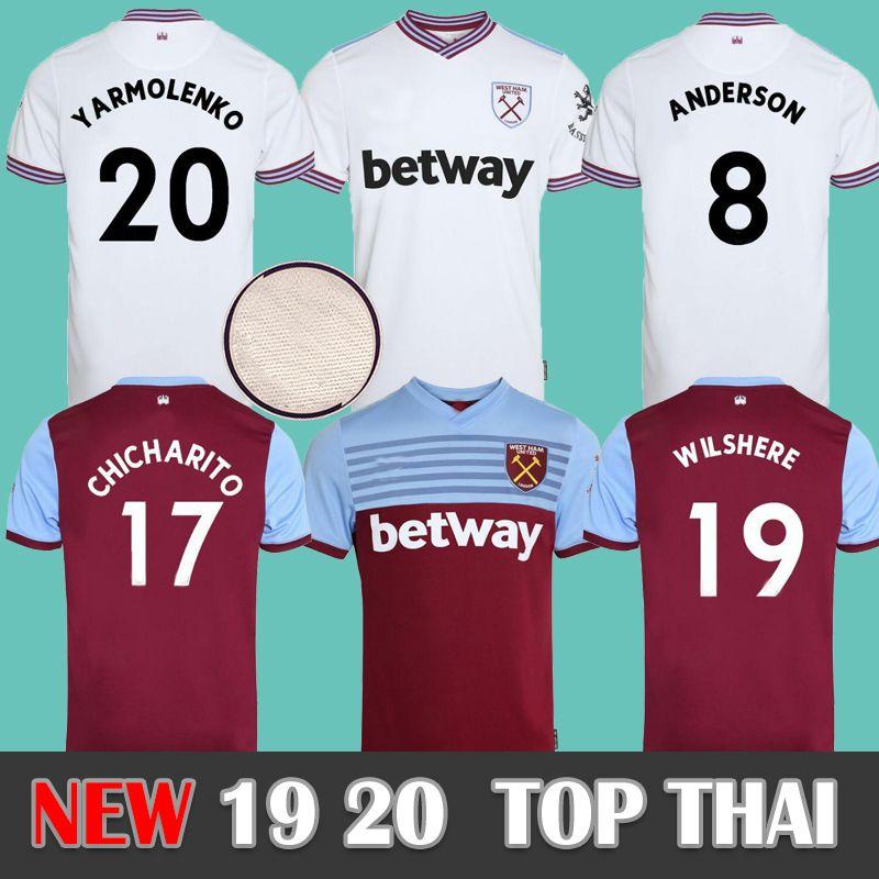 best loved 17f37 c4b8b NEW 19 20 West Ham soccer jersey United 2019 2020 home away NOBLE  CHICHARITO jerseys ANDERSON ARNAUTOVIC ANTONIO football shirt uniforms kit