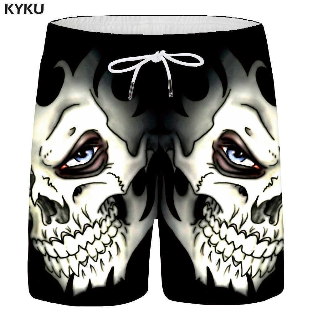 382a576dbd 2019 Kyku Skull Men Black Space Cargo Gothic Hawaii Beach 3d Print Shorts  Casual Hip Hop Mens Short Pants Summer Male C19041702 From Xiao0002, ...