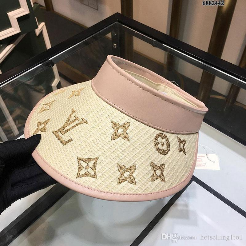 f5bc41c9ce6 2019 Fashion Letter Colored Embroidery No Top Sun Hat Imported ...