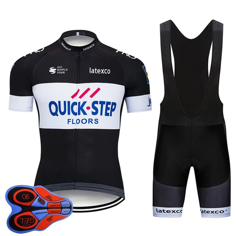 8d3f5b8ab Cycling Jersey 2019 Pro Team Quick Step Summer Bicycle Clothing Set  Breathable MTB Bike Jersey 9D Gel Pad Bib Shorts Kit Ropa Ciclismo Long  Sleeve Cycling ...