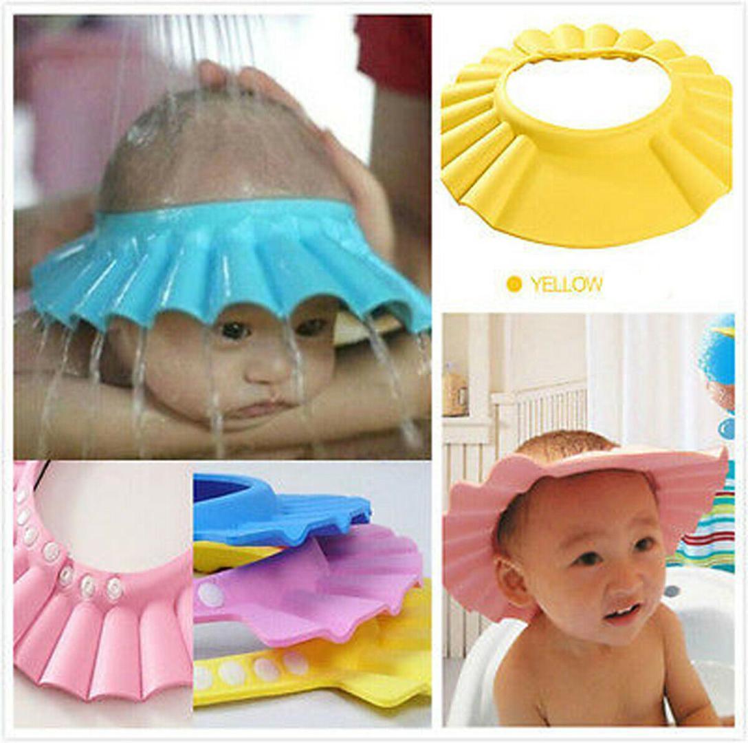 Baby Adjustable Baby Shower Cap Ear Cover Kids Children Bath Shield Hat Wash Hair Aus Bathing Accessories