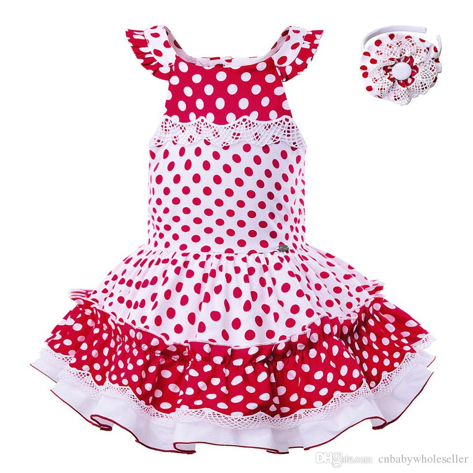 514a60debd731 Pettigirl Summer Newest Christmas Baby Girl Red Dot Dresses Kids Print Baby  Girl Boutique Clothes With Headband G-DMGD105-B277