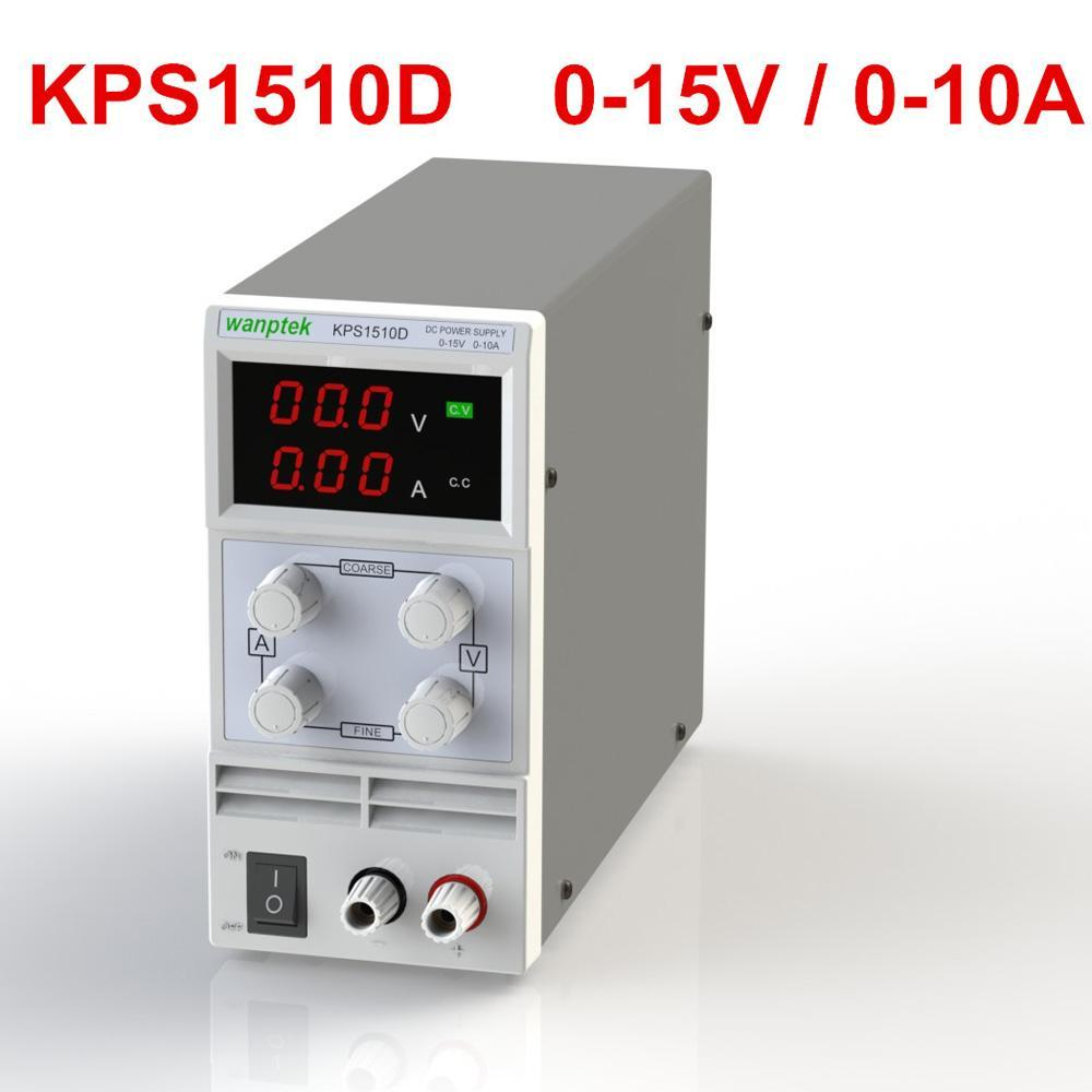 KPS605DF 0-15V 0~10A Mini DC Power Supply Switching Display 3 Digits LEDPrecision Variable Adjustable AC 110V/220V 50/60Hz