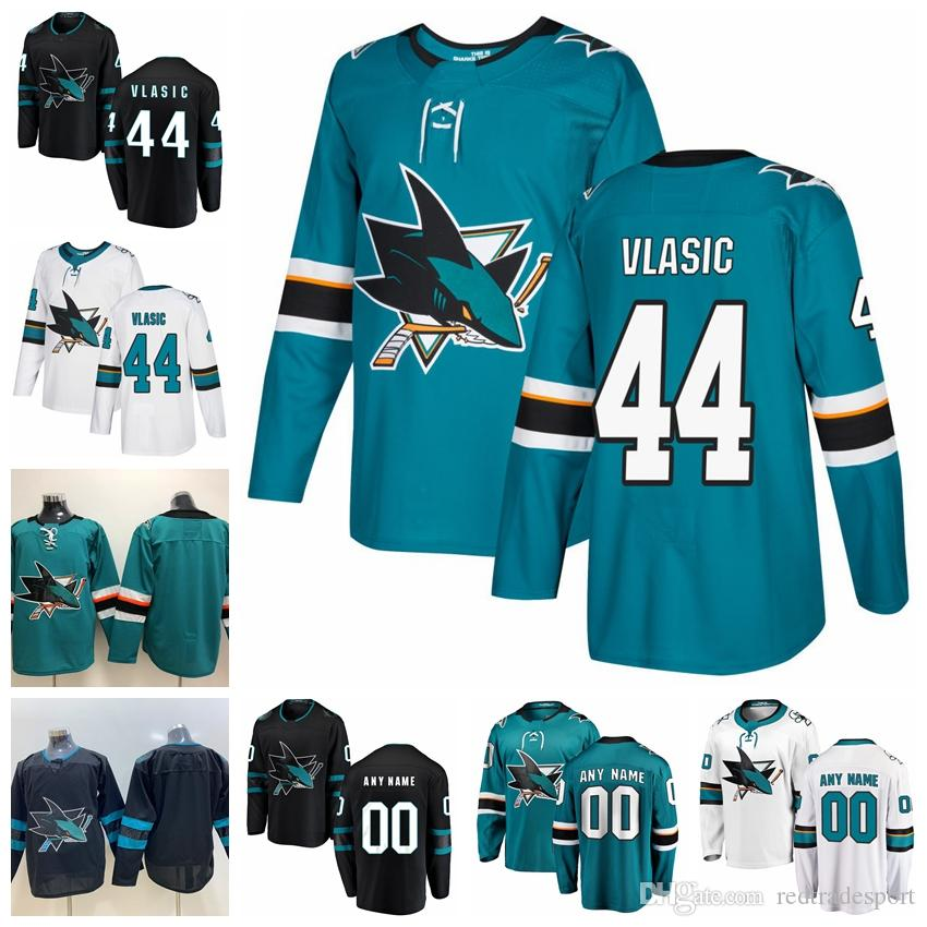 sports shoes 5a321 a60f8 2019 Custom Marc-Edouard Vlasic San Jose Sharks Hockey Jerseys Mens  Alternate #44 Marc-Edouard Vlasic Stitched Jerseys Customize Name Number
