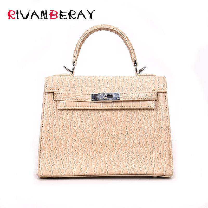 2018 Luxury Crocodile Pattern Ladies Hand Bags Fashion Small Women Bags Designer PU Leather Crossbody Sac A Main Tote Bag