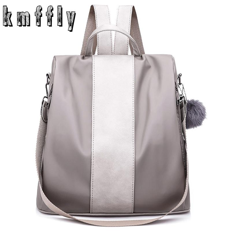 b34d5fa27ec9 KMFFLY Women Backpack Oxford Anti-thief Shoulder Bags Large Capacity Hair  Ball School Bag for Teenager Girls FeMale Travel Bags
