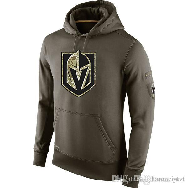 new product 6805b 80924 Men's Vegas Golden Knights Salute to Service Winter Warm Cold Weather All  Ice Hockey Sideline Army Green Sports Pullover Hoodies, S-4XL