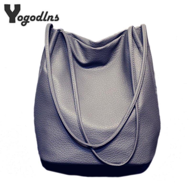 7219cdc1e5180 Hot Designer Women Leather Handbags Large Capacity Ladies Shopping Bag  Bolsa Black Bucket Shoulder Bags Ladies Cross Body Bags Ladies Purse Leather  ...