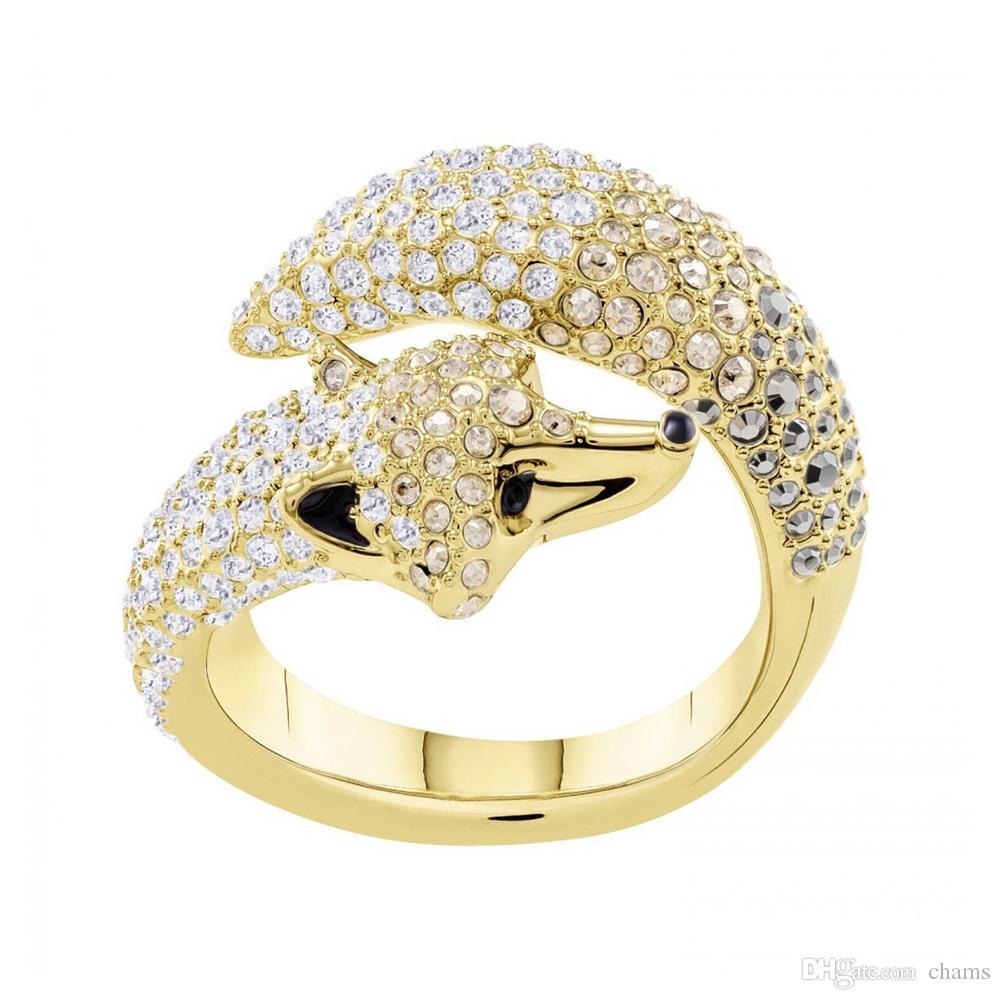 d44fae67d Swarovski new crystal elements explore fantasy fantasy cute fox ring female  5410400 Valentine's Day to send girlfriend gifts