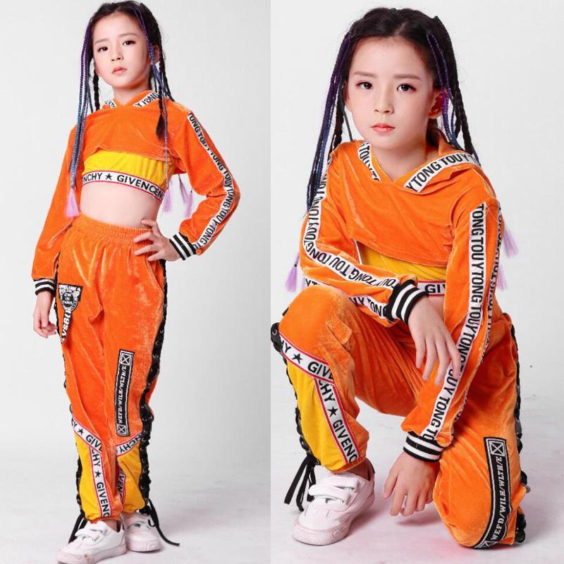 Compre Niños Lentejuelas Hip Hop Ropa Ropa Para Niñas Chaqueta Crop Tank  Tops Camisa Shorts Jazz Traje De Baile Salón De Baile Streetwear A  55.5  Del Honry ... a3ae0afbf11
