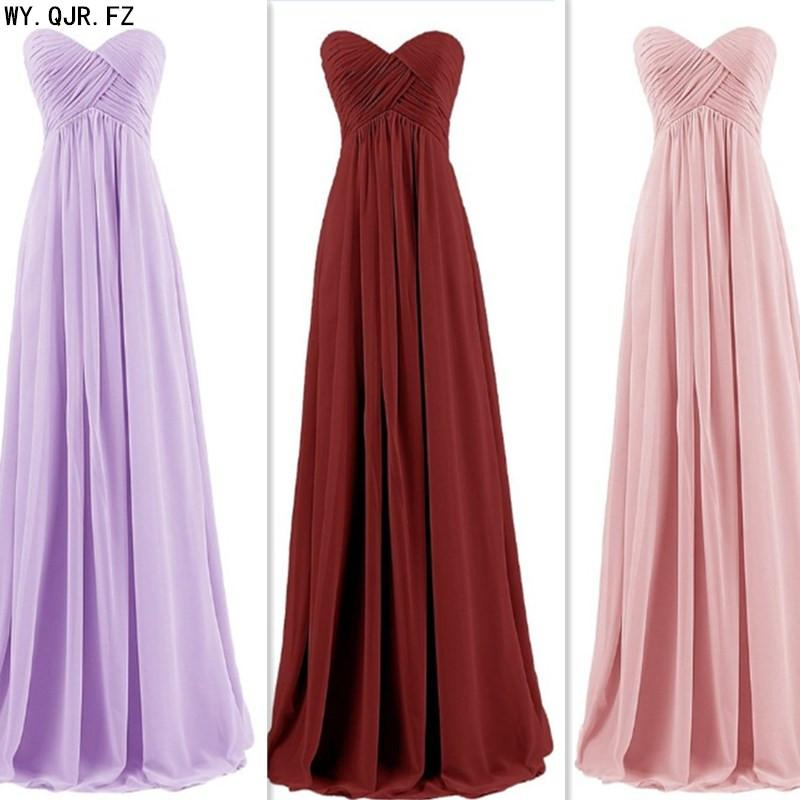 LLY-6958L#Green Chiffon long bridesmaids dresses bride wedding party toast prom dress wholesale custom Plus Size women'