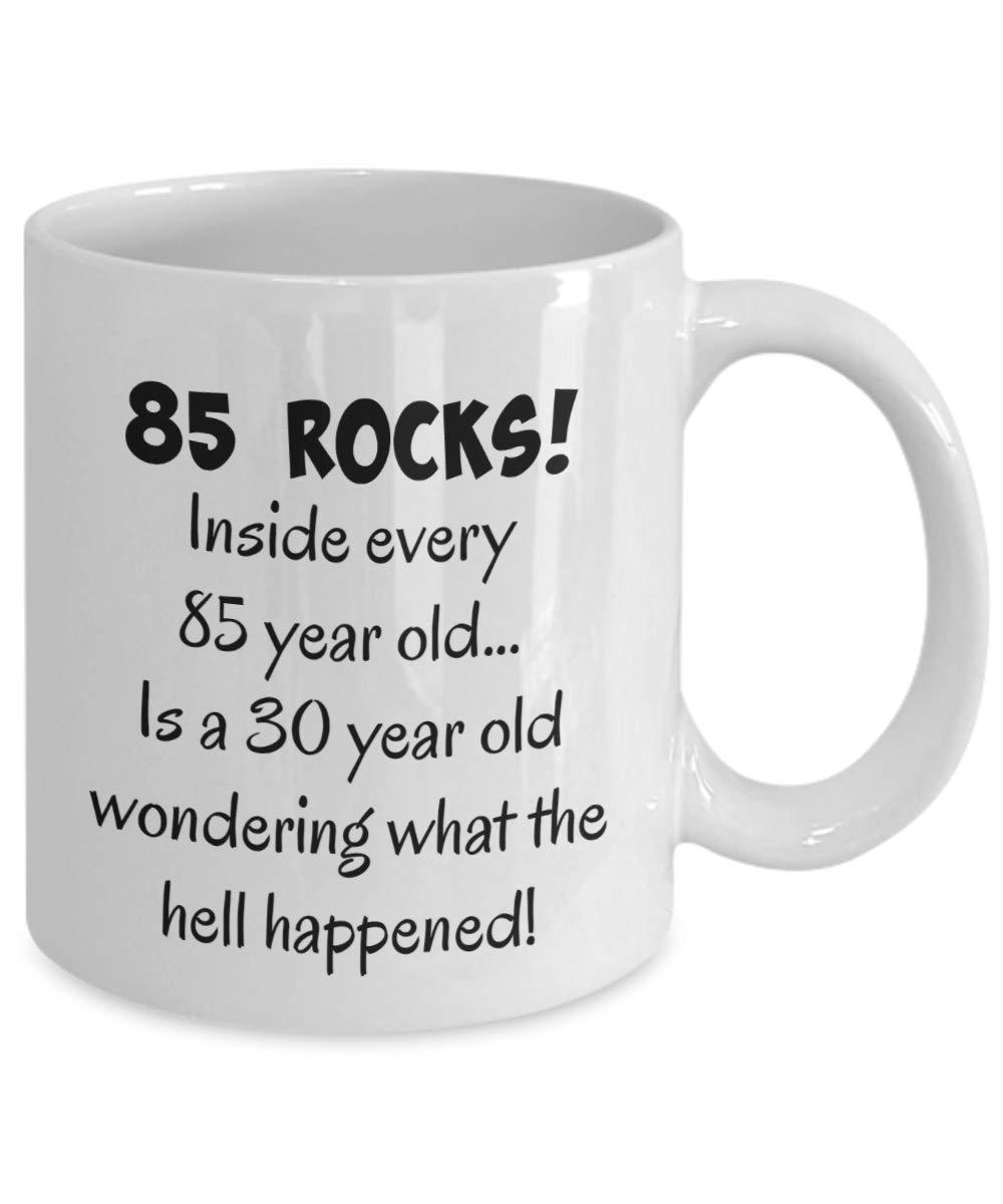 Happy 85 Year Old 1933 85th Birthday Gift Mug For Women Or Men Great Christmas Mothers Day Fathers Present Coffee Tea Cup Mugs Sale