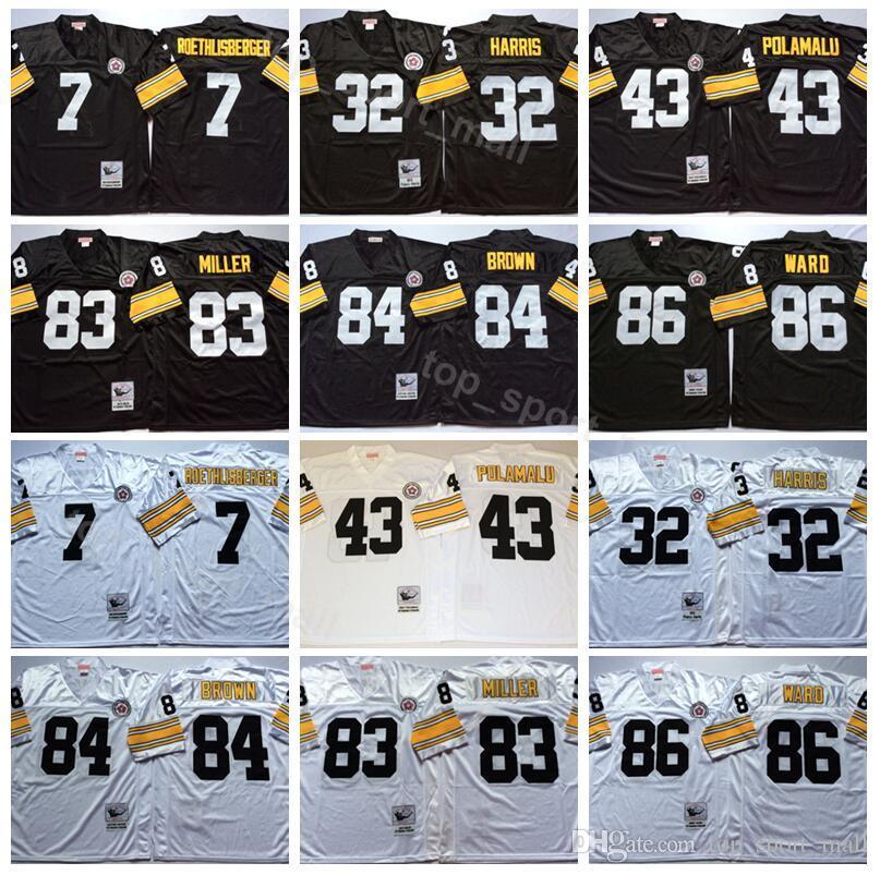 Pittsburgh Steelers Vintage 7 Ben Roethlisberger Jersey Football 43 ... fb26f9e22