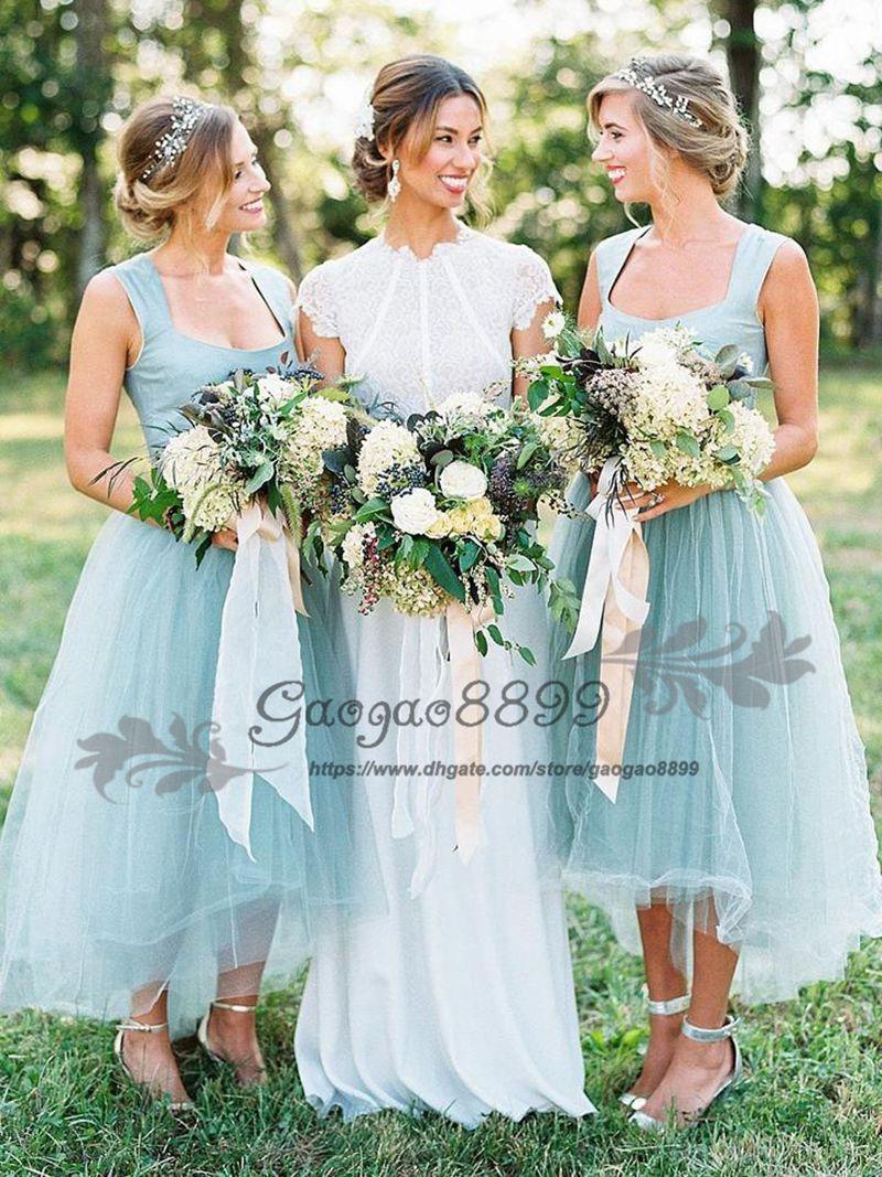 7bd19dcd6827 Beach Wedding Dresses Bridesmaid