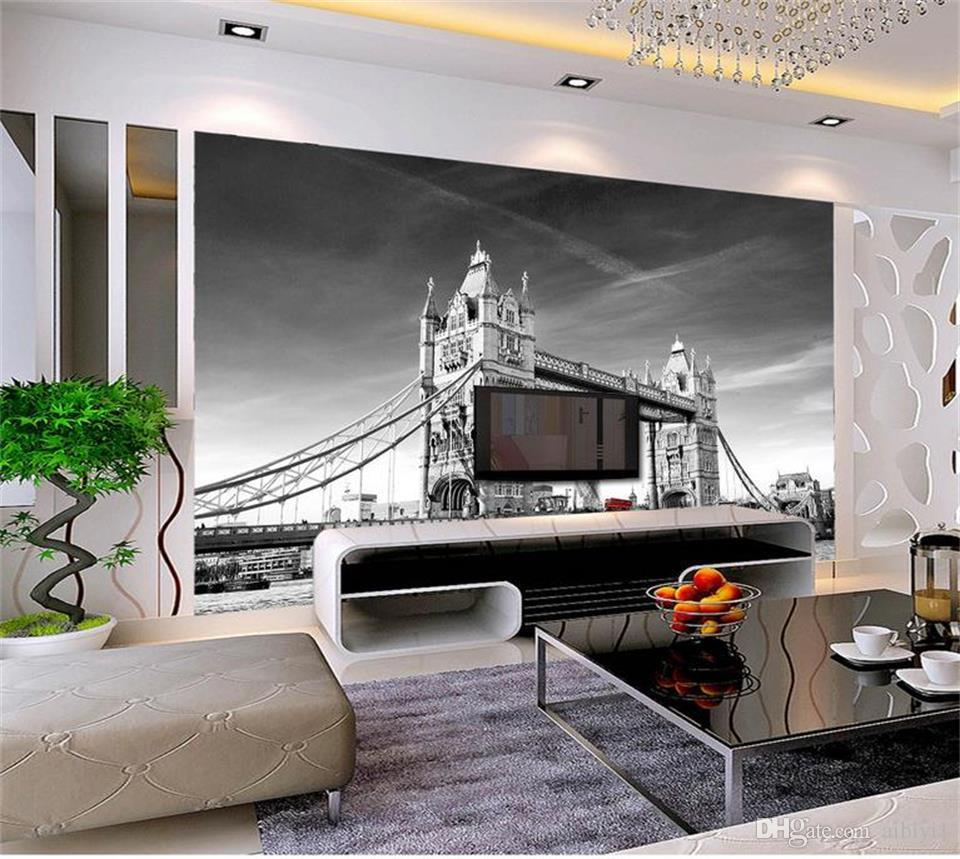 custom size 3d photo wallpaper livingroom bed room mural London tower bridge retro picture sofa TV backdrop wallpaper non-woven wall sticker