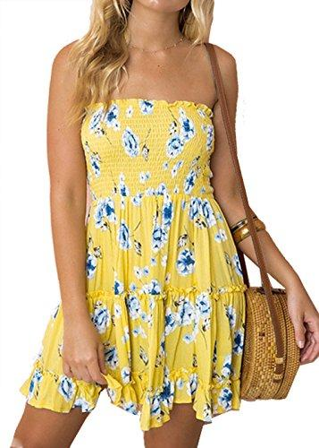 Dress Floral Strapless