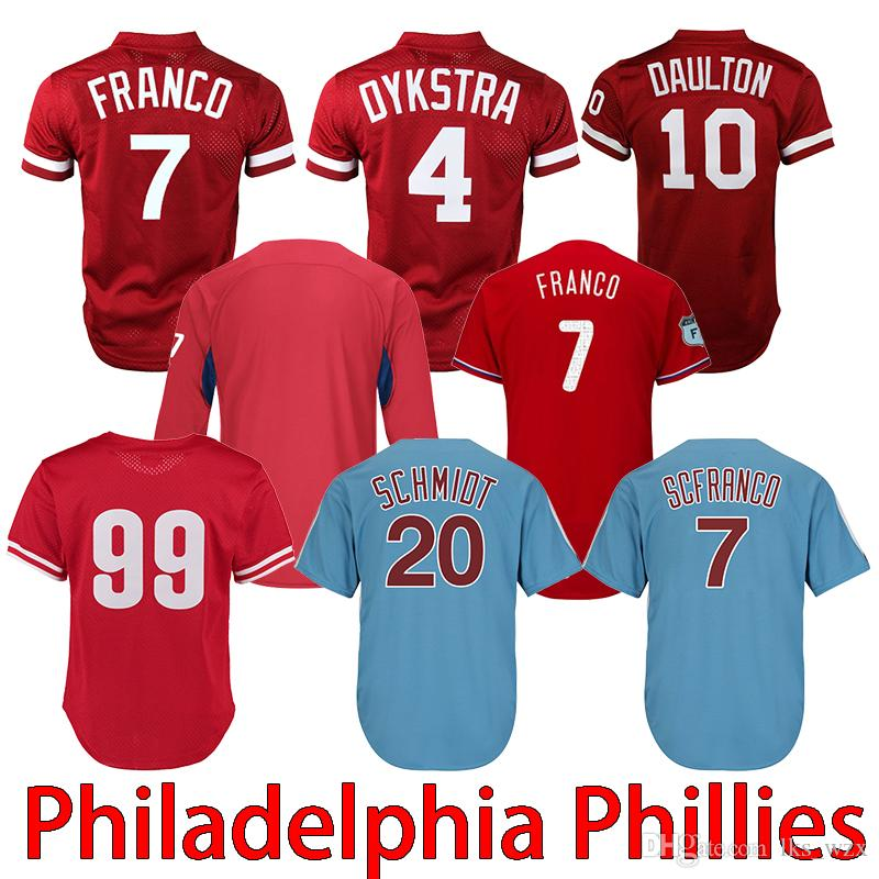 quality design cc921 3b87a 2019 new Philadelphia phillies jersey with high quality embroidery by bryce  Harper 7 Maikel Franco 10 Darren Daulton jerseys
