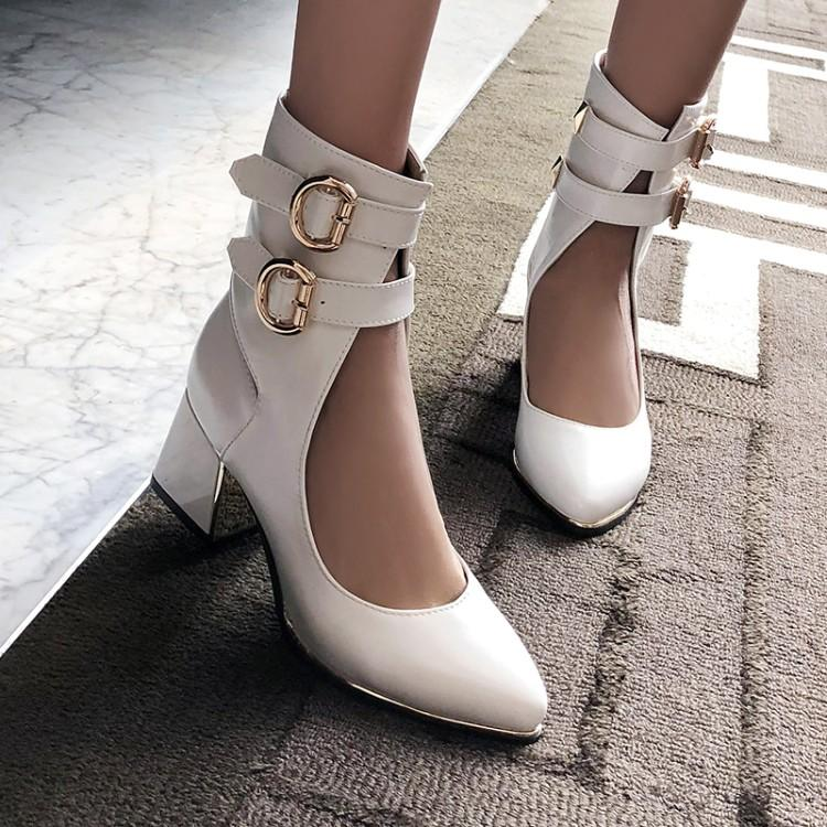 5c8901e21 Sarairis Chunky Heels 2019 Brand New Plus Size 48 Sweet Women S Pumps Sexy  Chic Style Party Women S Hoes Cheap Boots Brown Boots From Clownie