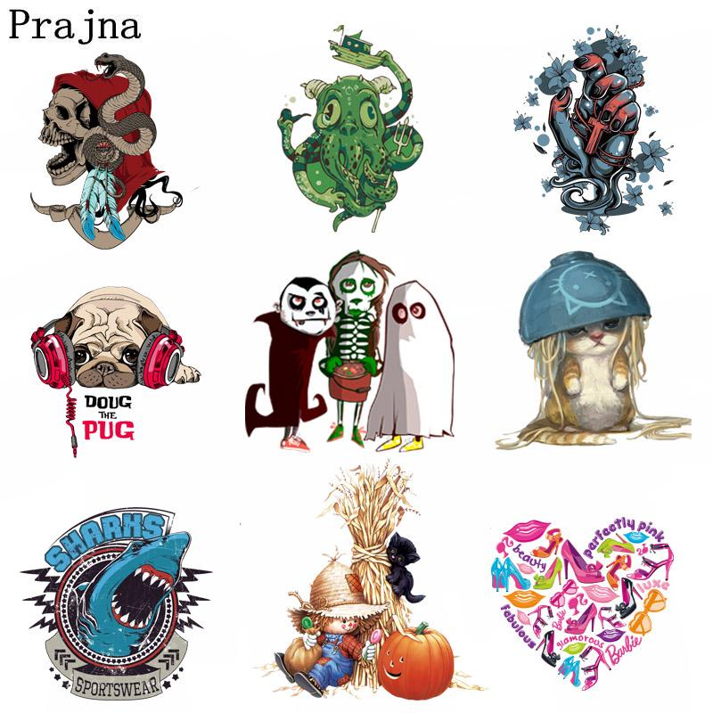 Prajna Halloween Costume Vampire Iron On Transfer For T-Shirts Cute Rabbit Patches Heat Thermal Transfers Patch Clothes DIY F