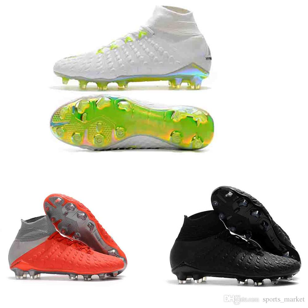 newest 1a4ce 9f881 New Hypervenom Phantom III DF FG Mens Soccer Shoes Outdoor Trainers Hommes  Raised On Concrete Football Shoes