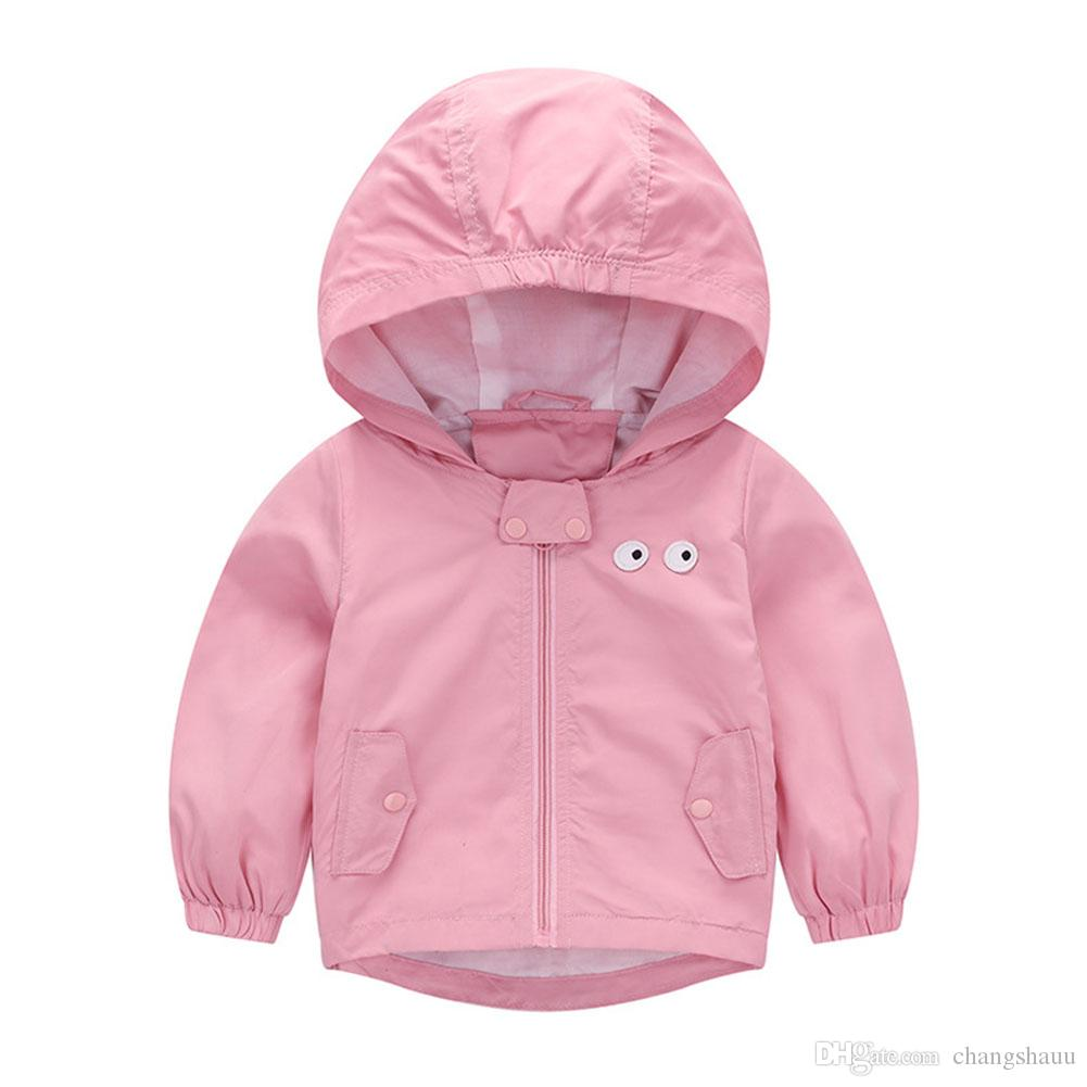 dd30c8b72 Boys And Girls Jacket Coat Spring Autumn Winter Baby Clothing Windbreaker Outdoor  Coats Hooded Solid Color Children'S Clothes Padded Jackets For Kids Kids ...