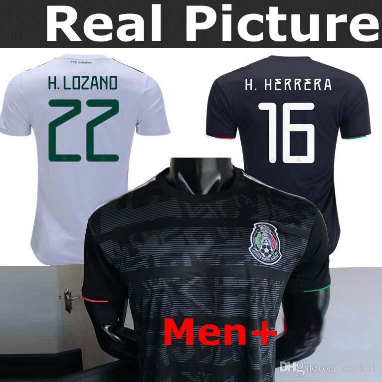 watch 7b6c7 357b9 2019 Mexico Jersey Black home Soccer Jerseys 2019 World Cup Home Away  CHICHARITO Camisetas de futbol H.LOZANO G.DOS SANTOS Adult Shirts