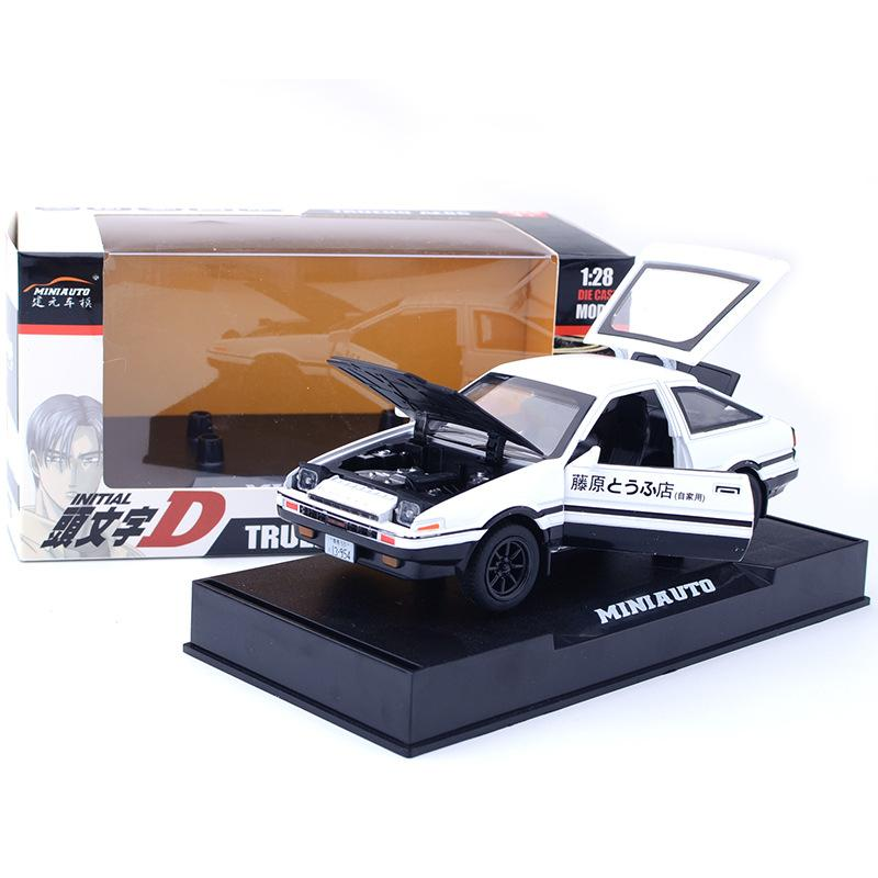 initial d toyota ae86 car model alloy sound light effect. Black Bedroom Furniture Sets. Home Design Ideas