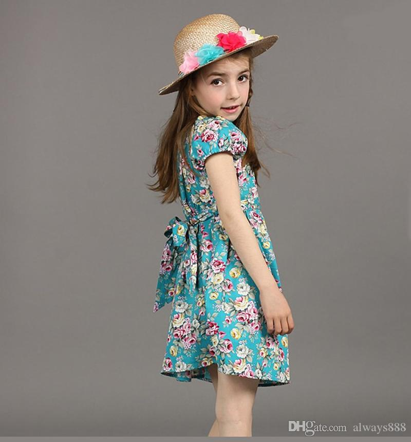b10d5e3e4b3c 2019 New Beach Dress Girls Summer Backless Halter Princess Dresses Kids  Clothes Children Clothing Baby Toddler Flower Ruffle Dress Wholesale From  Always888, ...