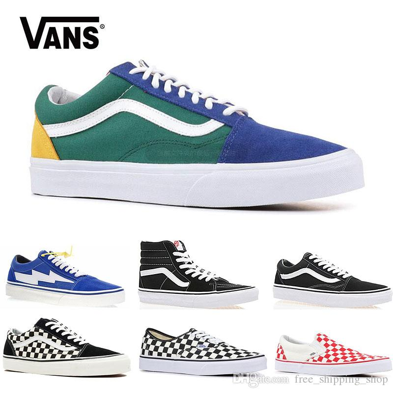 b4637e5d25 2019 Vans Old Skool Men Women Casual Shoes Rock Flame Yacht Club Sharktooth  Peanuts Skateboard Mens Trainer Sports Running Shoe Sneakers Loafers Mens  Boots ...