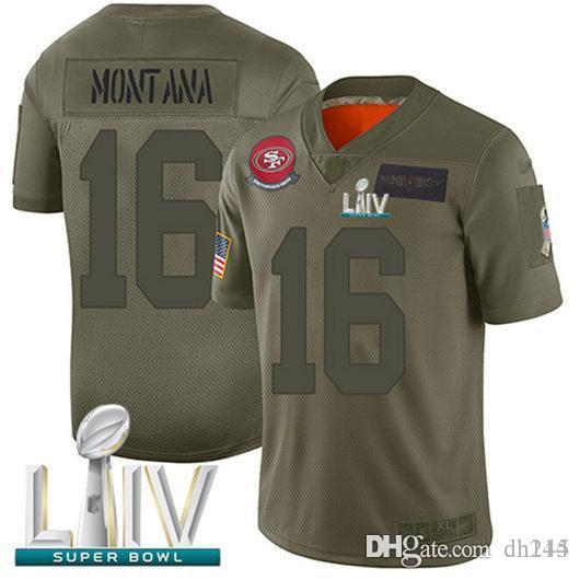 Mens Raheem Mostert Nick Bosa Jersey Jimmy Garoppolo George Kittle Jerry Rice, Joe Montana Super Bowl LIV camisetas oficiales para mujer Steve Young