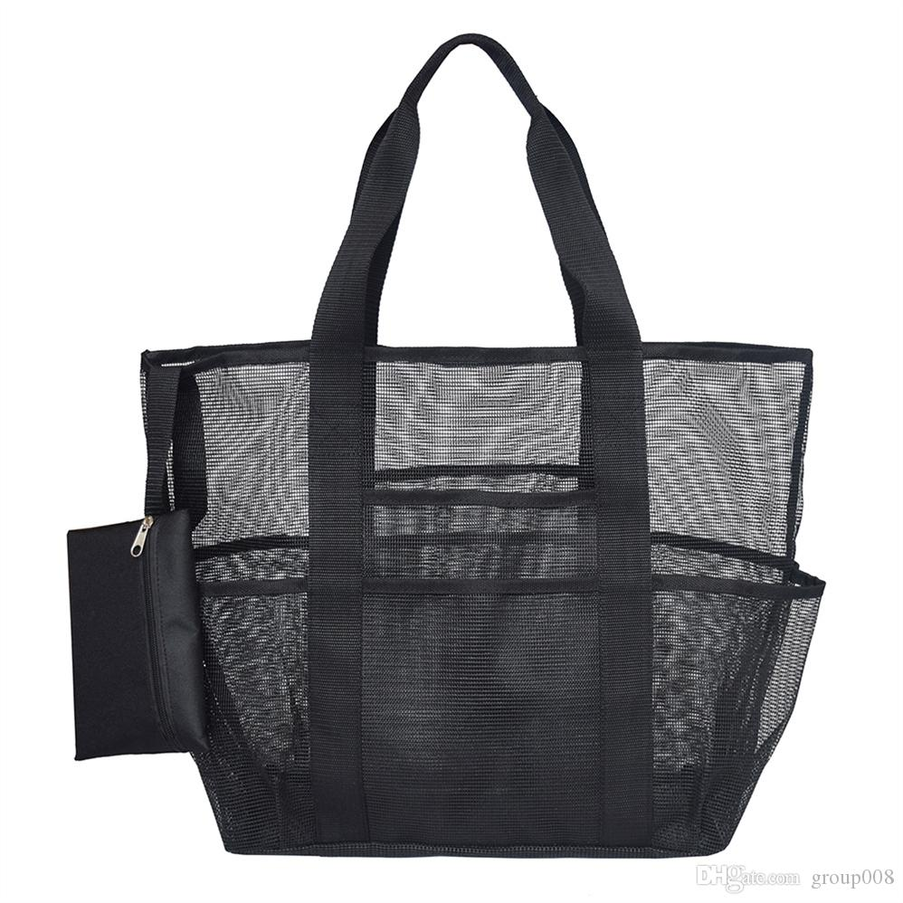 90c715e2f 2019 Outdoor Sports Gear Toy Storage Family Holiday Mesh Fabric Picnic  Swimming Shopping Shoulder Travel Grocery Beach Bag #690594 From Group008,  ...