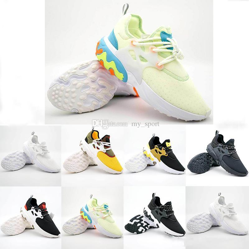 Free Shipping Presto Mid Epic React Men Women Running Shoes Comfortable Foot Feel Mesh Breathable Sneakers Black White Casual Shoes 36-45