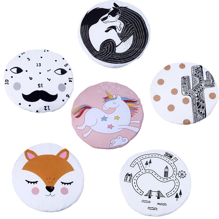 Baby Playing Mats Cartoon Fox Unicorn Toys Games Pads Crawling Blankets Kids Room Padded Floor Carpet kids Bedding TTA1304