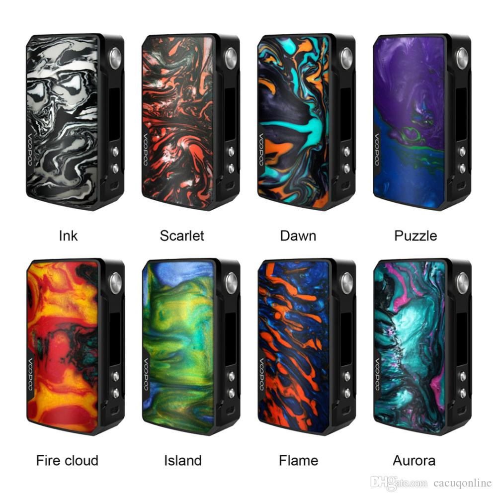 Original Voopoo Drag 2 177W Box Mod ecigs Dual 18650 Batterie Schermo OLED Visualizza Mod Vape