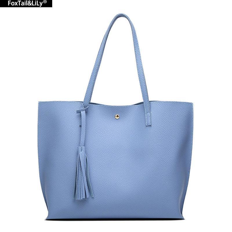 86501e4a3e Luxury Brand Women Shoulder Bag Soft Leather Top Handle Bags Ladies Tassel Tote  Handbag High Quality Women S Handbags Italian Leather Handbags Luxury ...