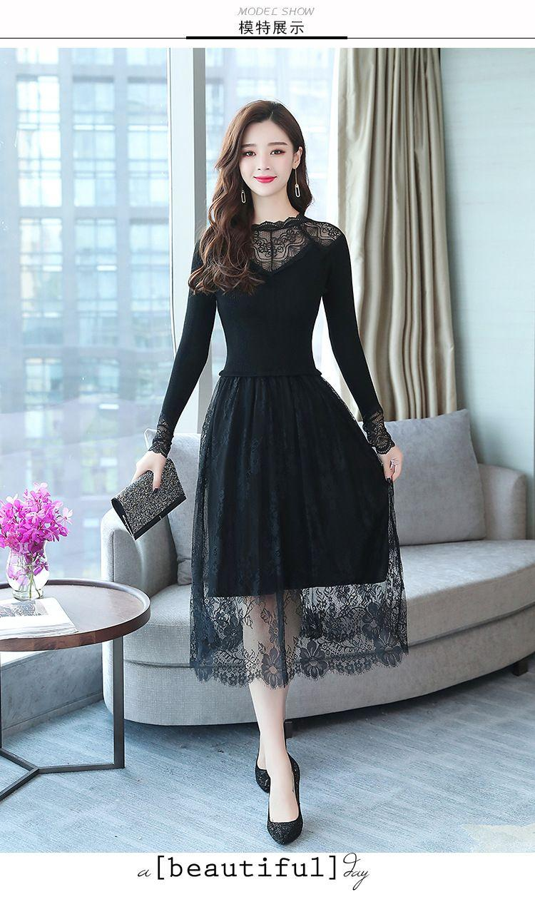 Vestido h&m negro nina