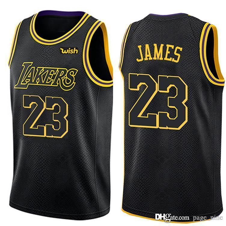 pretty nice a0d80 0d1cd free shipping Cheap New City LeBron Jerseys Laker 100% Stitched James  Basketball Jersey Men and Youth