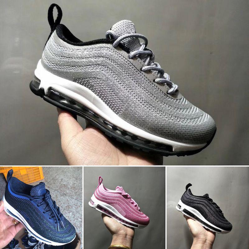 Nike air max 97 Niños Niñas Niños multi Pana Calzado padre hijo Niños bebé Zapatillas Zapatillas Zapatillas de deporte de alta calidad Tamaño28 35