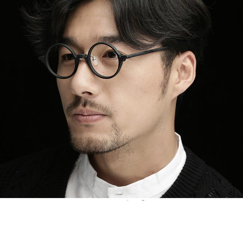 81e21c18de0e4 Compre Óculos Handmade Frame Homens E Mulheres Modelos Redondos Full Frame  Óculos De Armação De Arte Retro Óculos Ala Lei 8834 De Lhxm