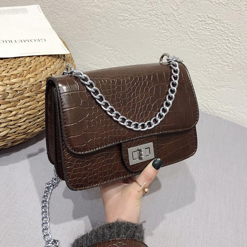 Women Package Fashion Wholesale New Pattern Crocodile Grain Ma Am Bags  Leather Handbag Chain Single Shoulder Woman Trumpet Diagonal Purses Leather  Bags For ... fb37f35afbe79