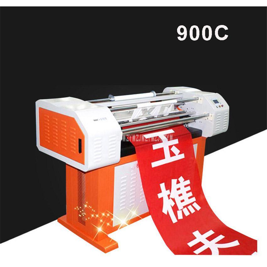 Professional Banner Laser Printing Machine Cloth Fabric Advertising Banner  Printer Printer Feeding Cloth Max Width 1000mm 900C