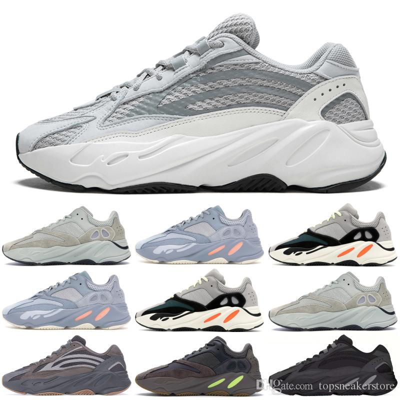 online store e321f b2378 700 Wave Runner Static Mens Women Designer Sneakers New 700 V2 Vanta Best  Quality Kanye West Sport Running Shoes With Box 5-11.5