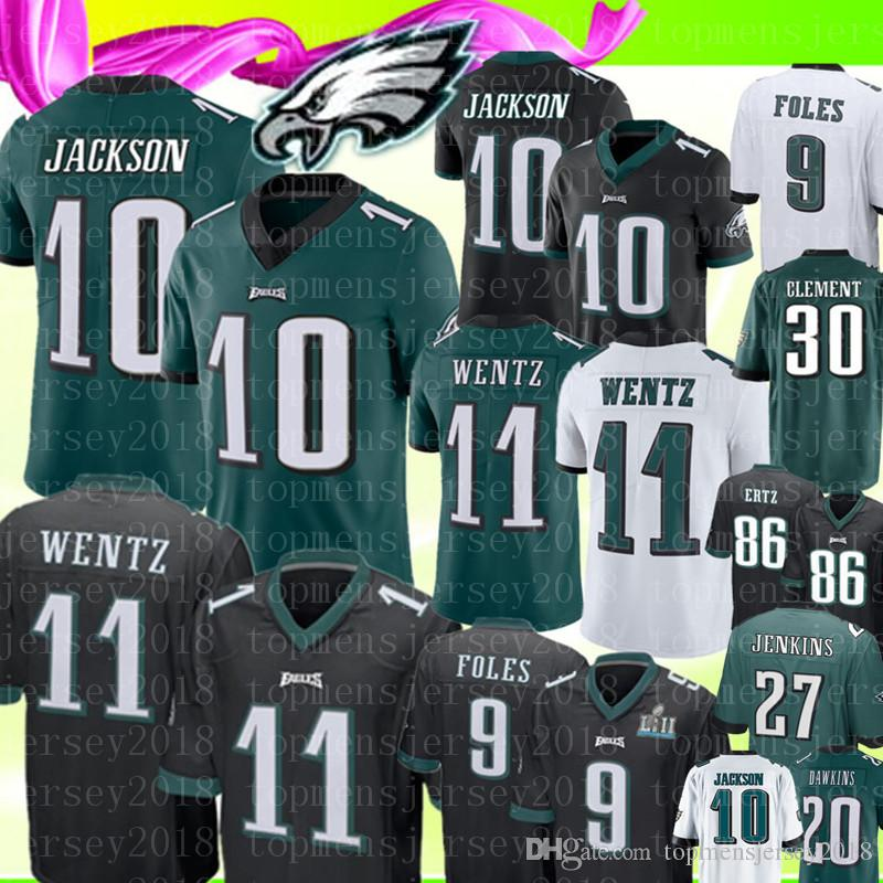 18d36147941 2019 Philadelphia Eagles 10 DeSean Jackson 11 Carson Wentz Jersey 9 Nick  Foles 20 Brian Dawkins 27 Malcolm Jenkins 88 Goedert Football Jerseys From  ...